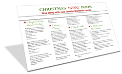 picture relating to Christmas Caroling Songbook Printable called Xmas Carols and New music