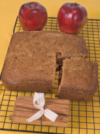 Cinammon apple bread - with a wonderful cooking smell